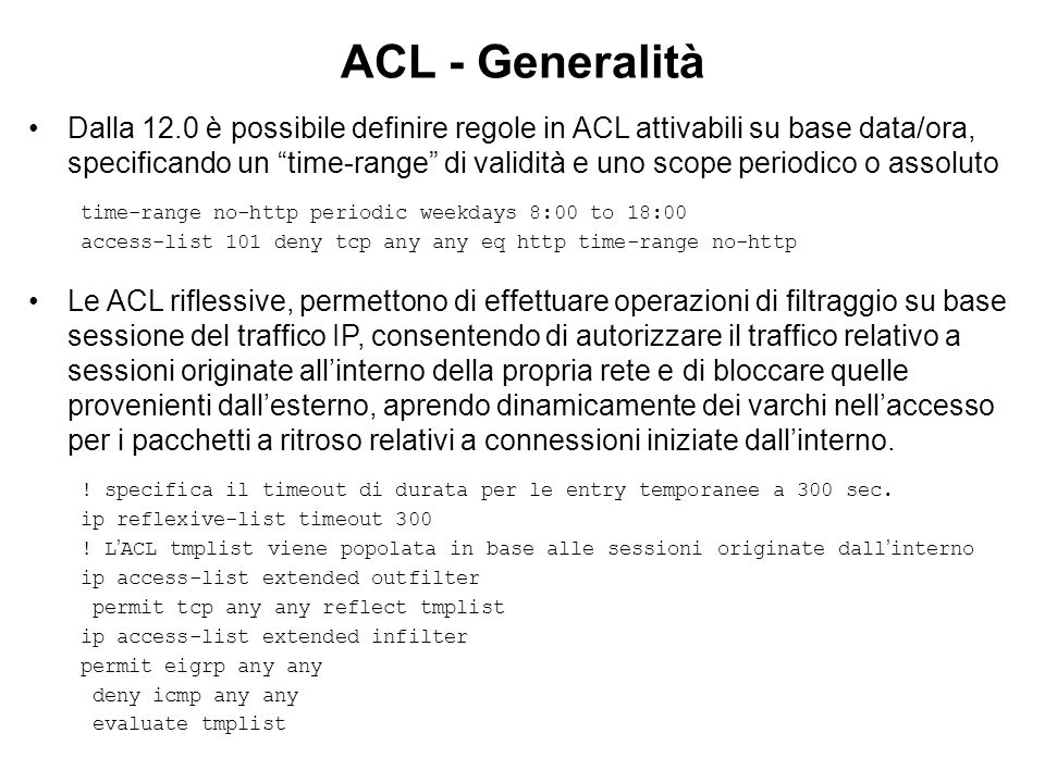 ACL - Generalità
