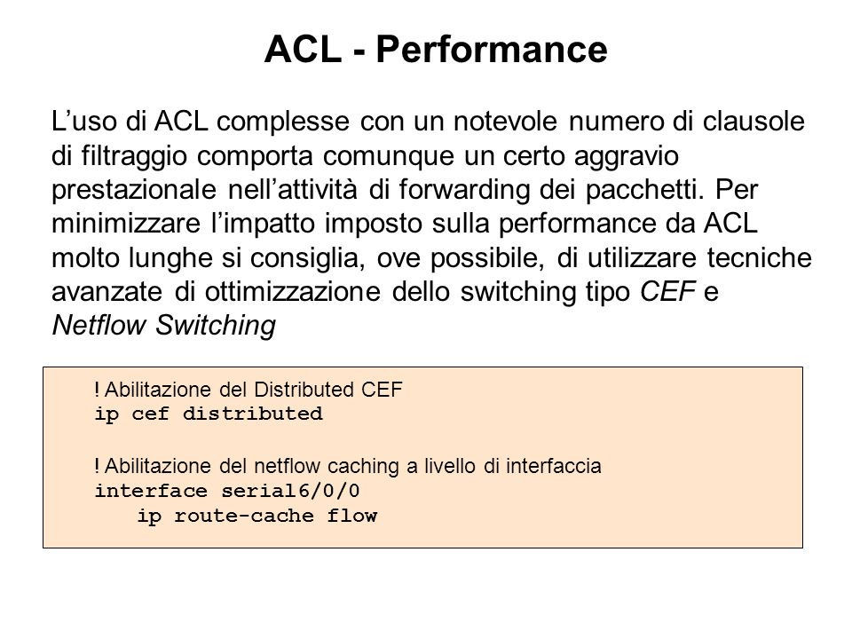 ACL - Performance