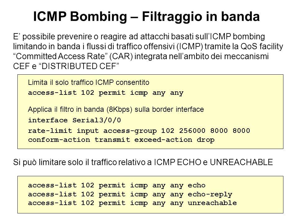 ICMP Bombing – Filtraggio in banda