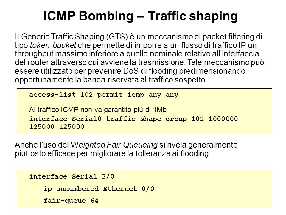 ICMP Bombing – Traffic shaping