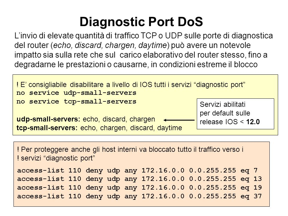 Diagnostic Port DoS