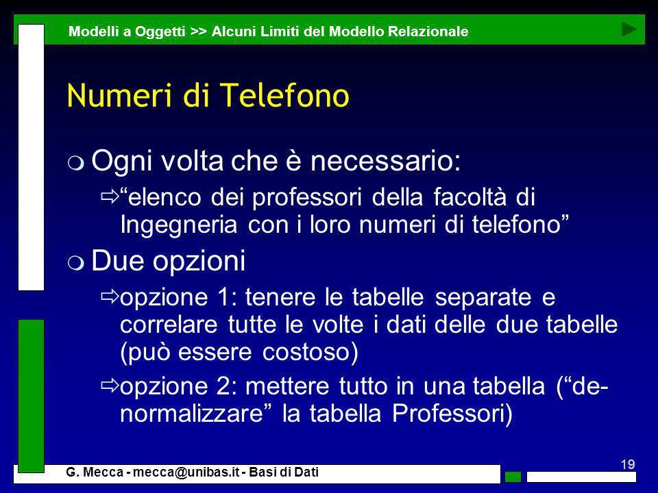 Numeri di Telefono Ogni volta che è necessario: Due opzioni