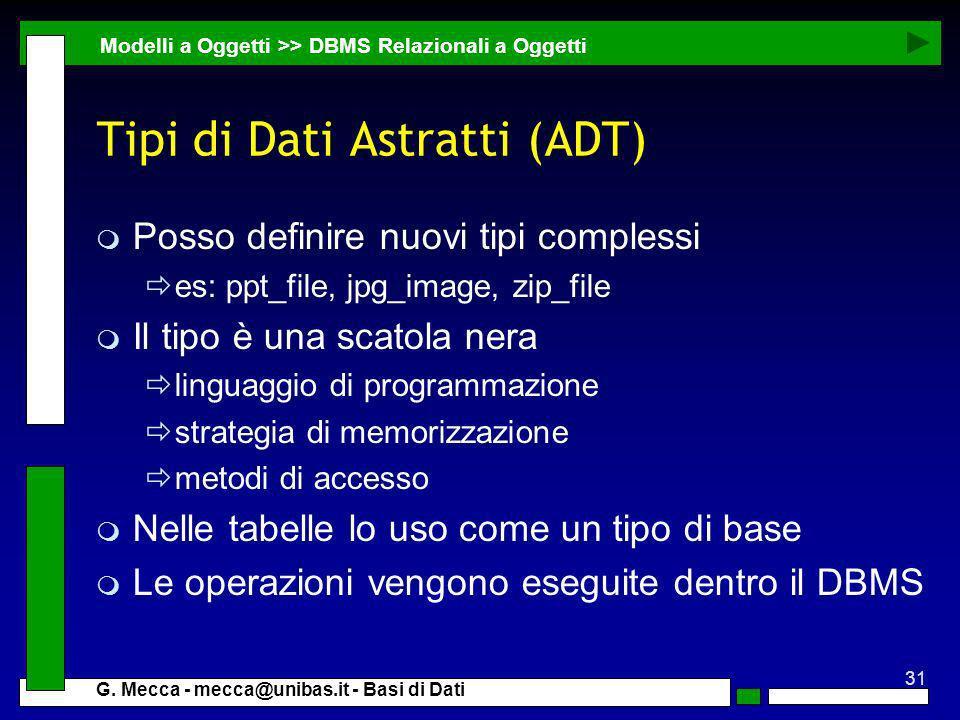 Tipi di Dati Astratti (ADT)