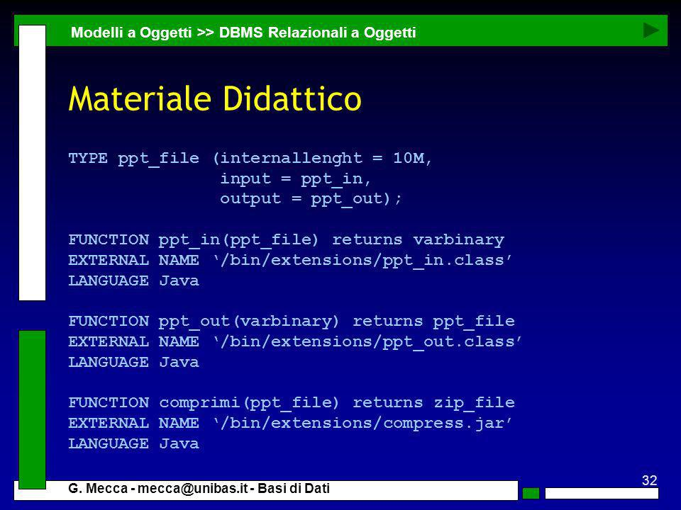 Materiale Didattico TYPE ppt_file (internallenght = 10M,