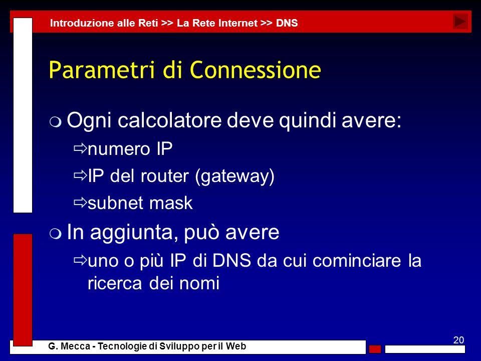 Parametri di Connessione