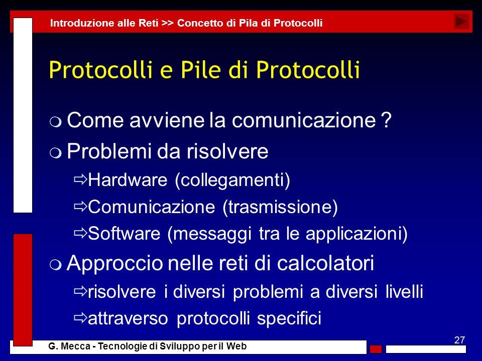 Protocolli e Pile di Protocolli