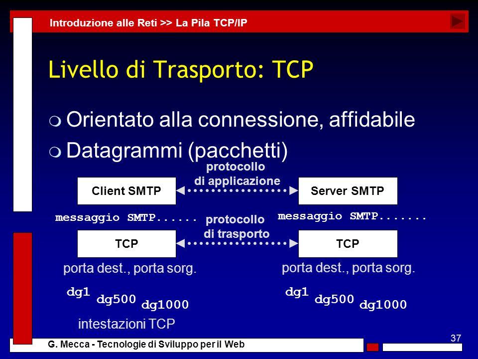Livello di Trasporto: TCP