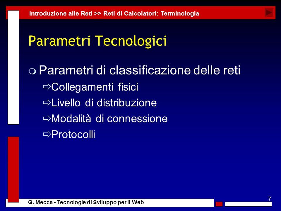 Parametri Tecnologici
