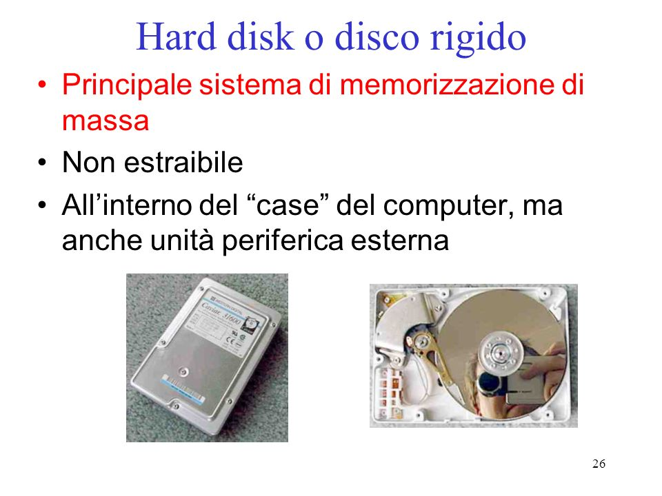Hard disk o disco rigido