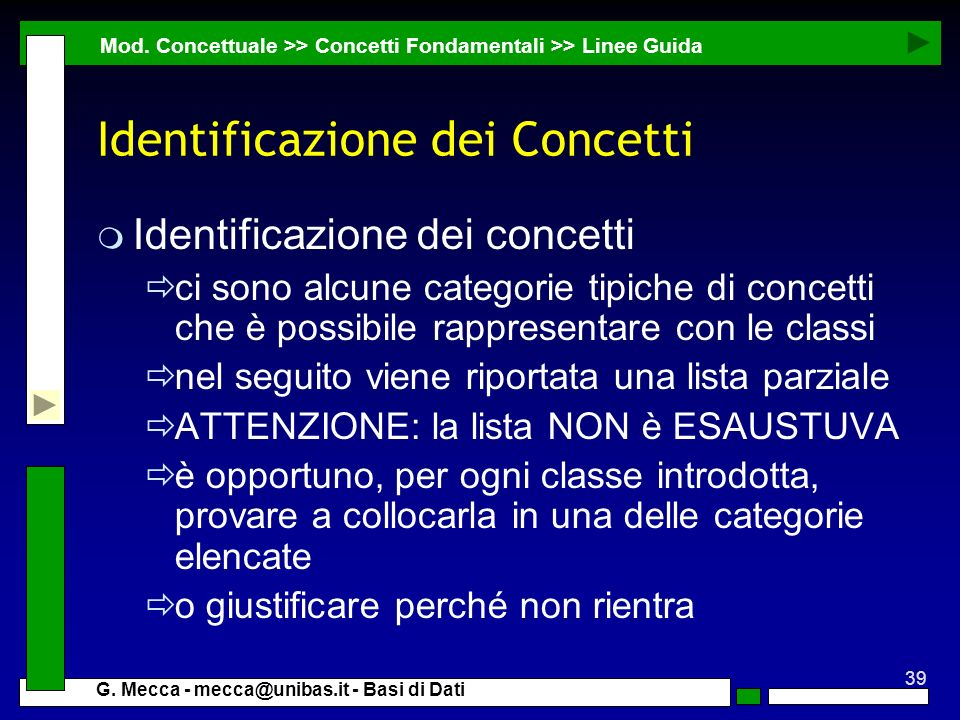 Identificazione dei Concetti