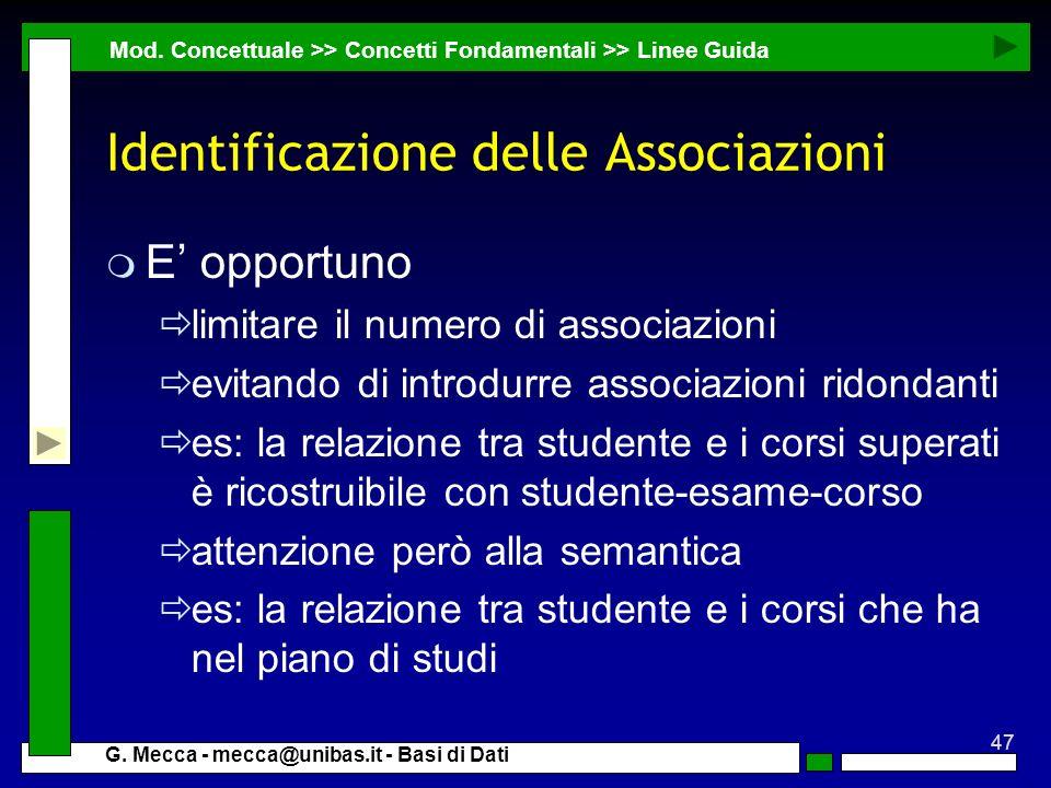 Identificazione delle Associazioni
