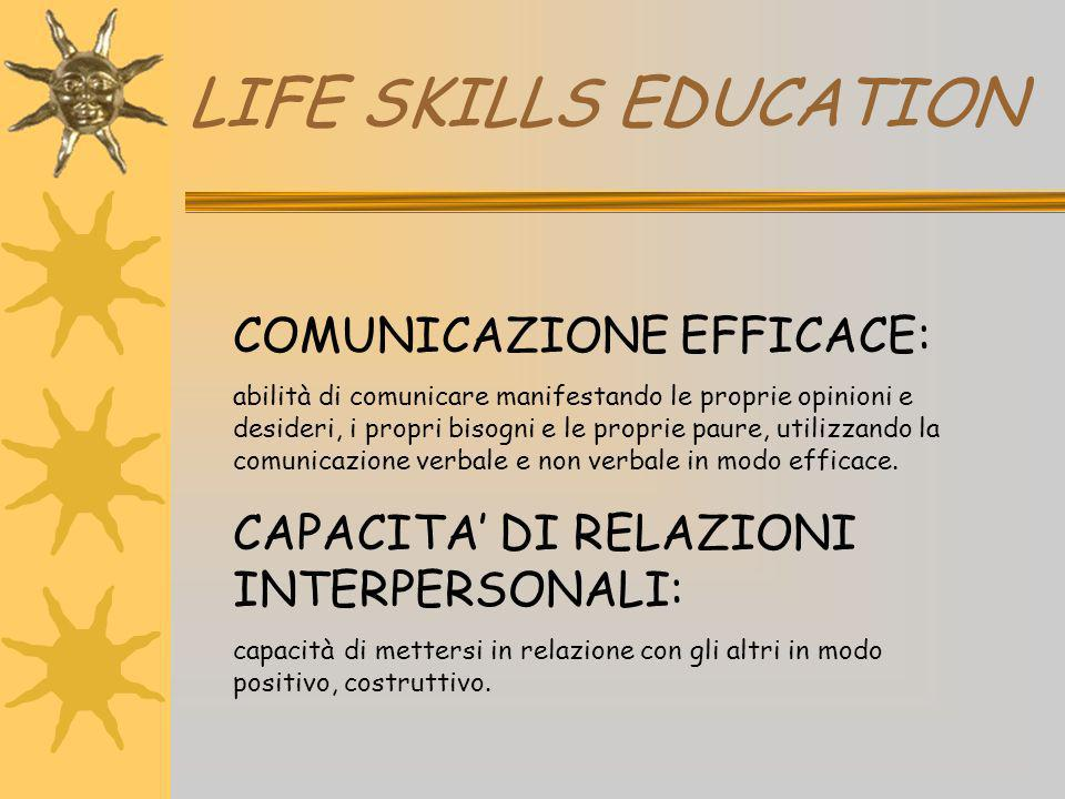 LIFE SKILLS EDUCATION COMUNICAZIONE EFFICACE:
