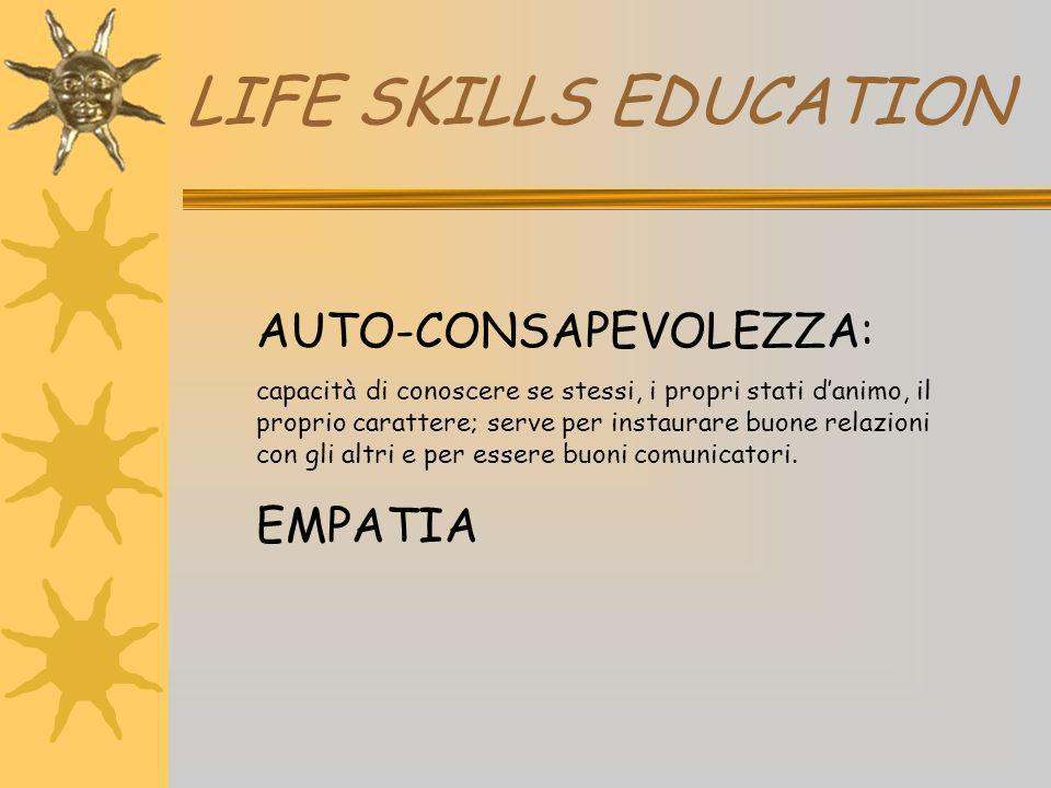 LIFE SKILLS EDUCATION AUTO-CONSAPEVOLEZZA: EMPATIA