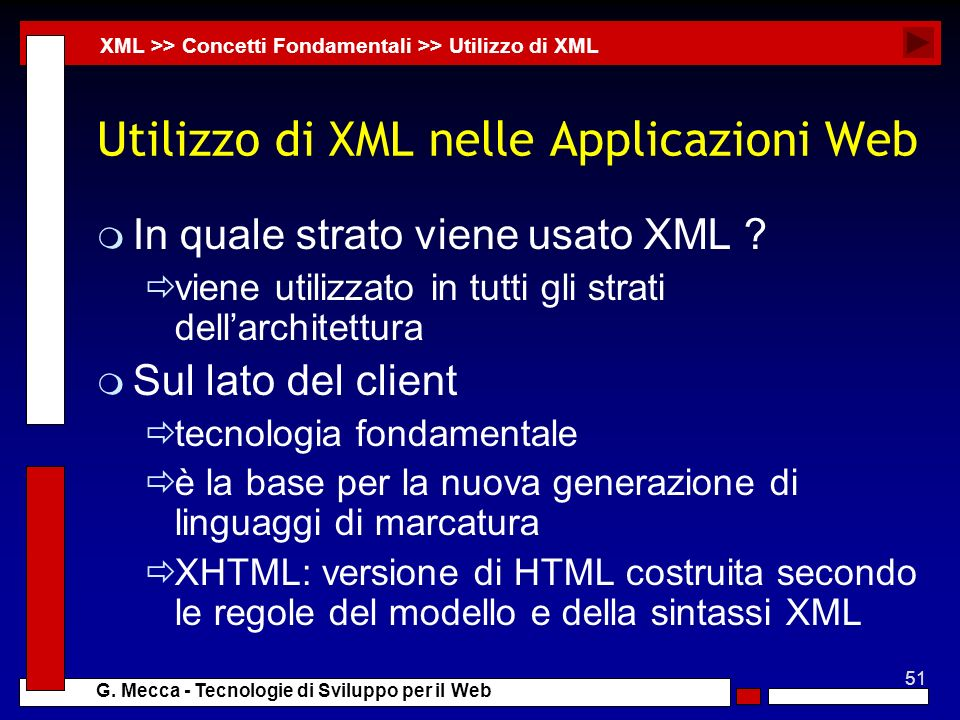 Utilizzo di XML nelle Applicazioni Web