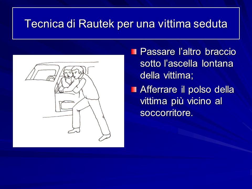 Tecnica di Rautek per una vittima seduta