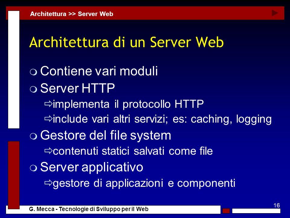 Architettura di un Server Web