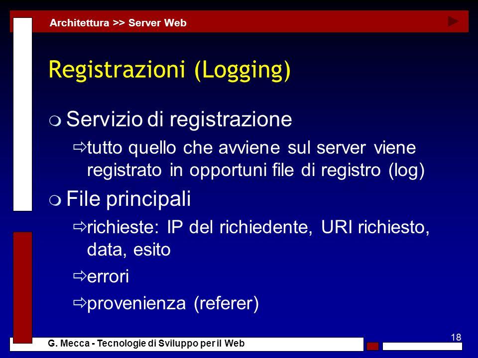 Registrazioni (Logging)