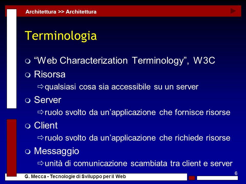 Terminologia Web Characterization Terminology , W3C Risorsa Server
