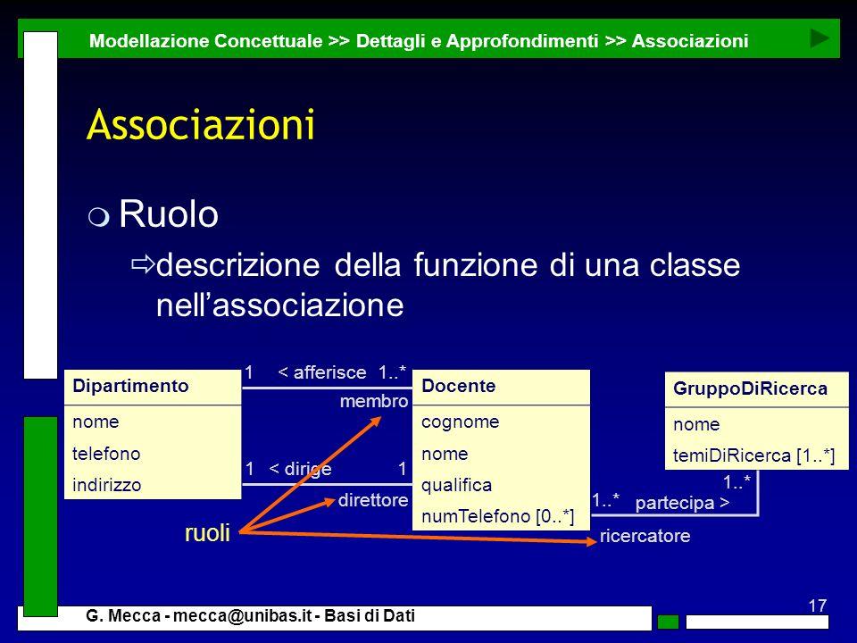 Modellazione Concettuale >> Dettagli e Approfondimenti >> Associazioni