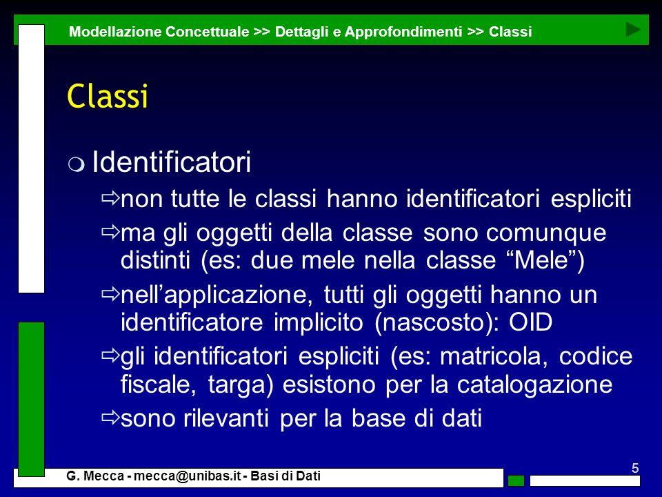 Classi Identificatori