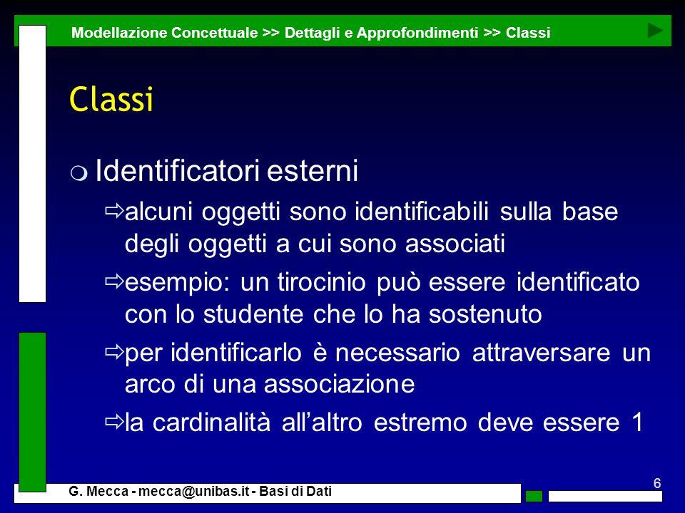 Classi Identificatori esterni