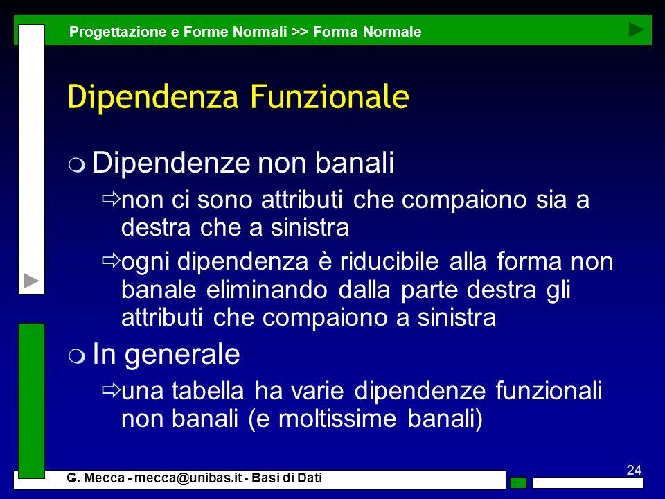 Dipendenza Funzionale