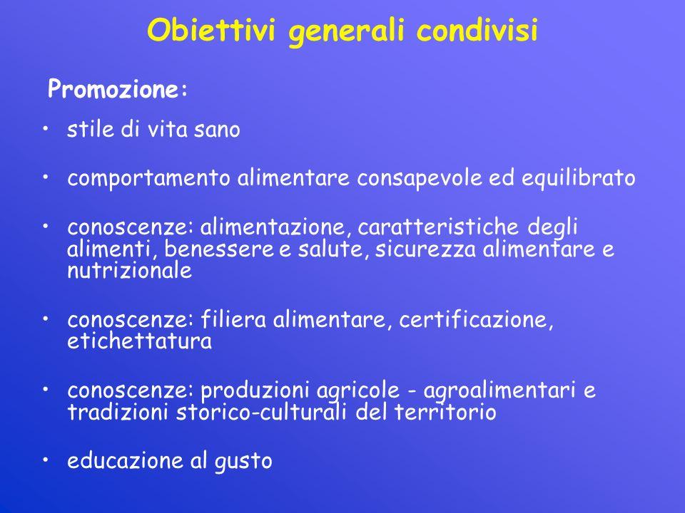 Obiettivi generali condivisi