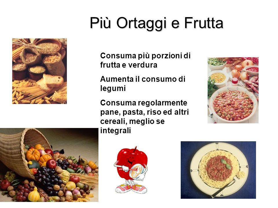 Più Ortaggi e Frutta Consuma più porzioni di frutta e verdura