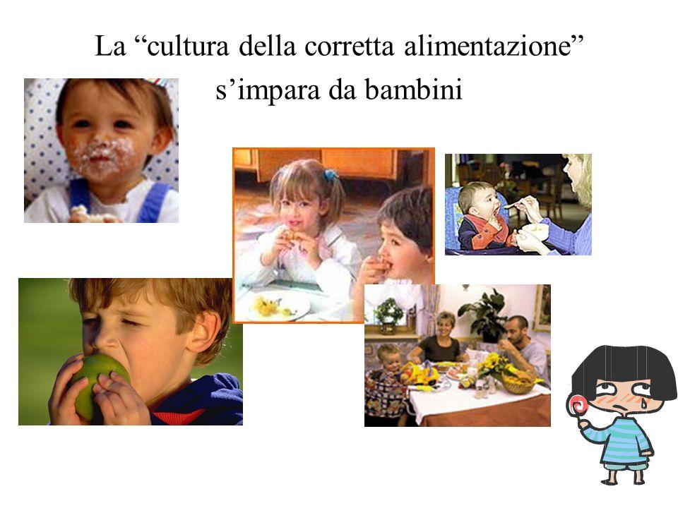 La cultura della corretta alimentazione s'impara da bambini