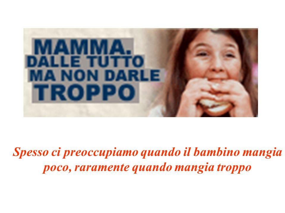 Spesso ci preoccupiamo quando il bambino mangia poco, raramente quando mangia troppo