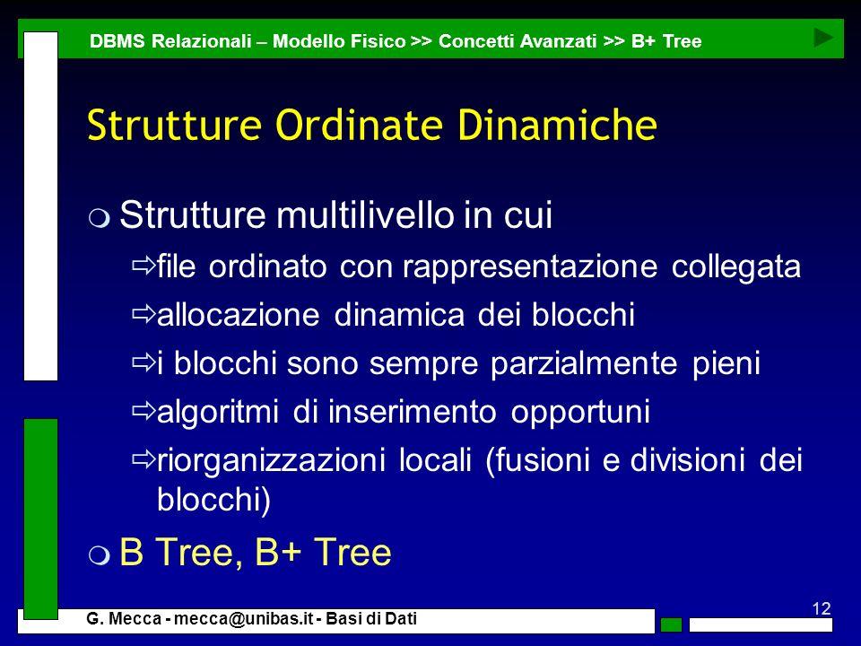 Strutture Ordinate Dinamiche