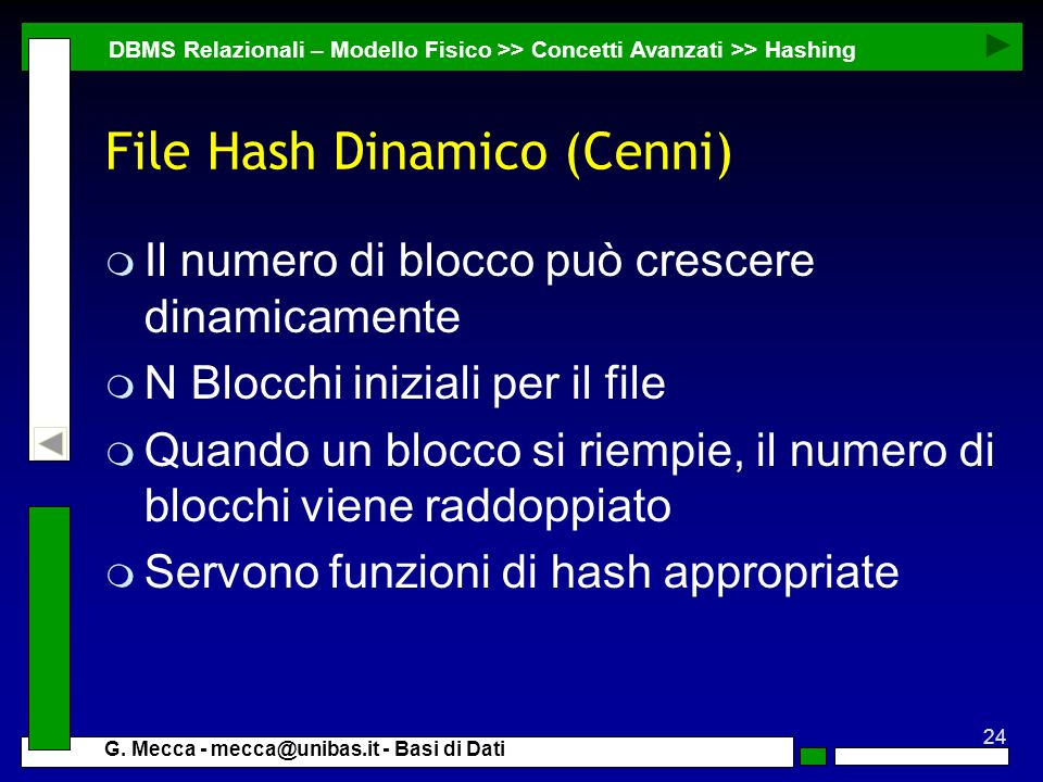 File Hash Dinamico (Cenni)