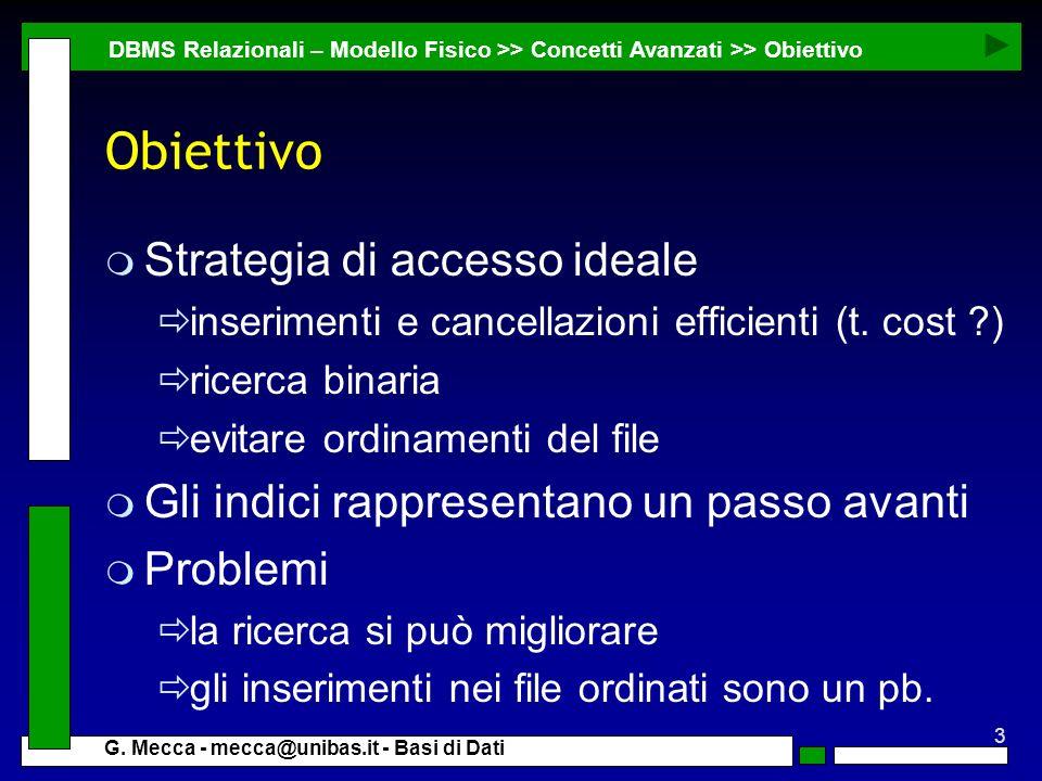 Obiettivo Strategia di accesso ideale
