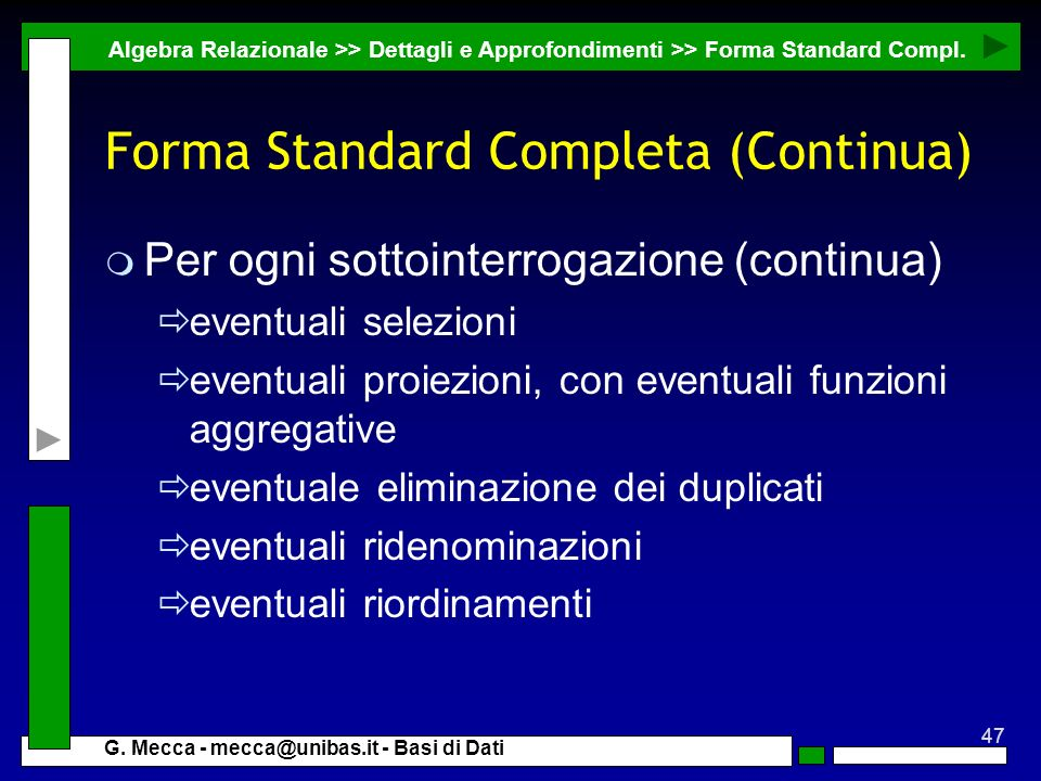 Forma Standard Completa (Continua)