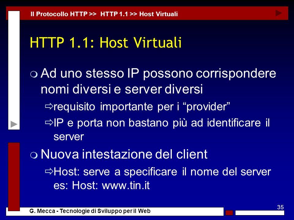 Il Protocollo HTTP >> HTTP 1.1 >> Host Virtuali