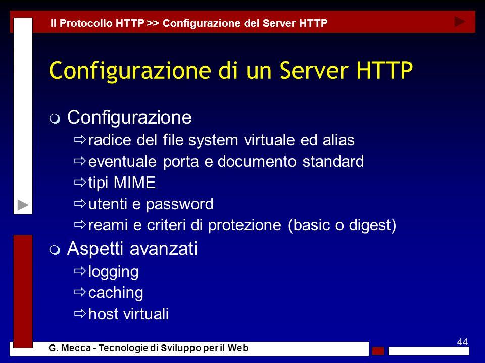 Configurazione di un Server HTTP