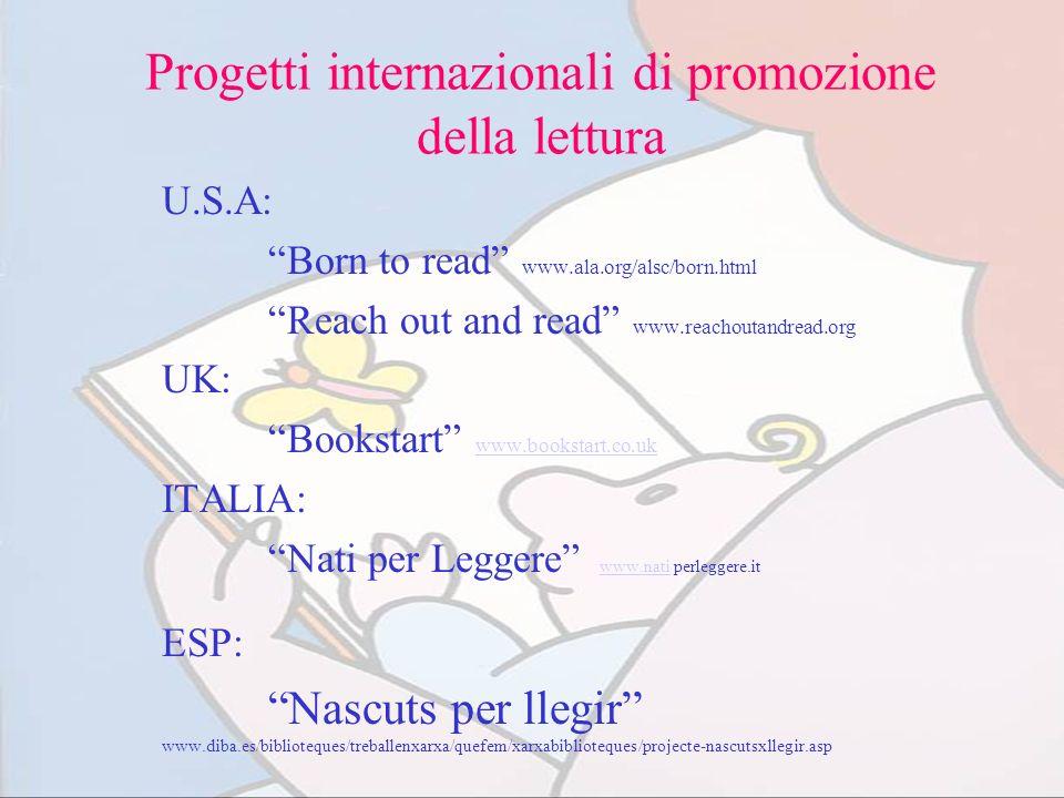 Progetti internazionali di promozione della lettura