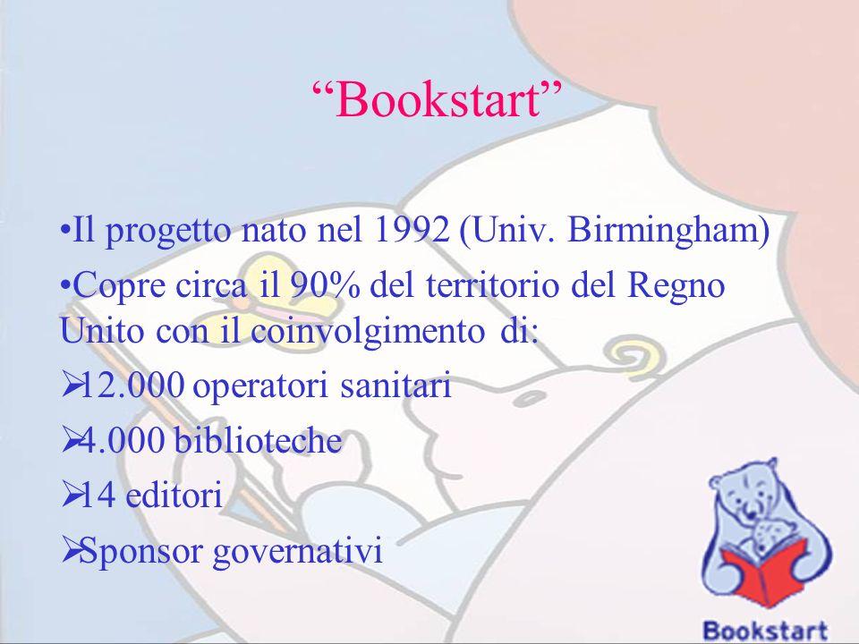 Bookstart Il progetto nato nel 1992 (Univ. Birmingham)