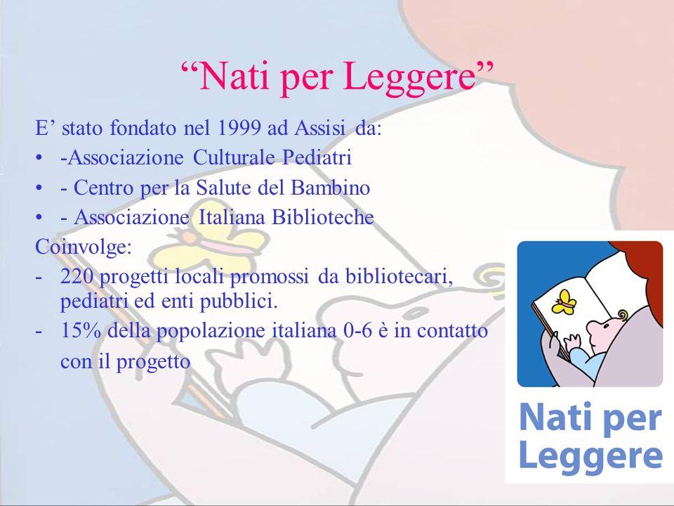 Nati per Leggere E' stato fondato nel 1999 ad Assisi da: