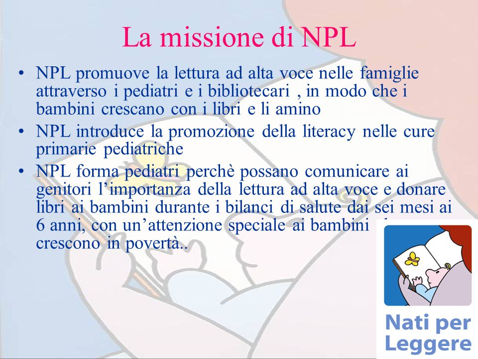 La missione di NPL
