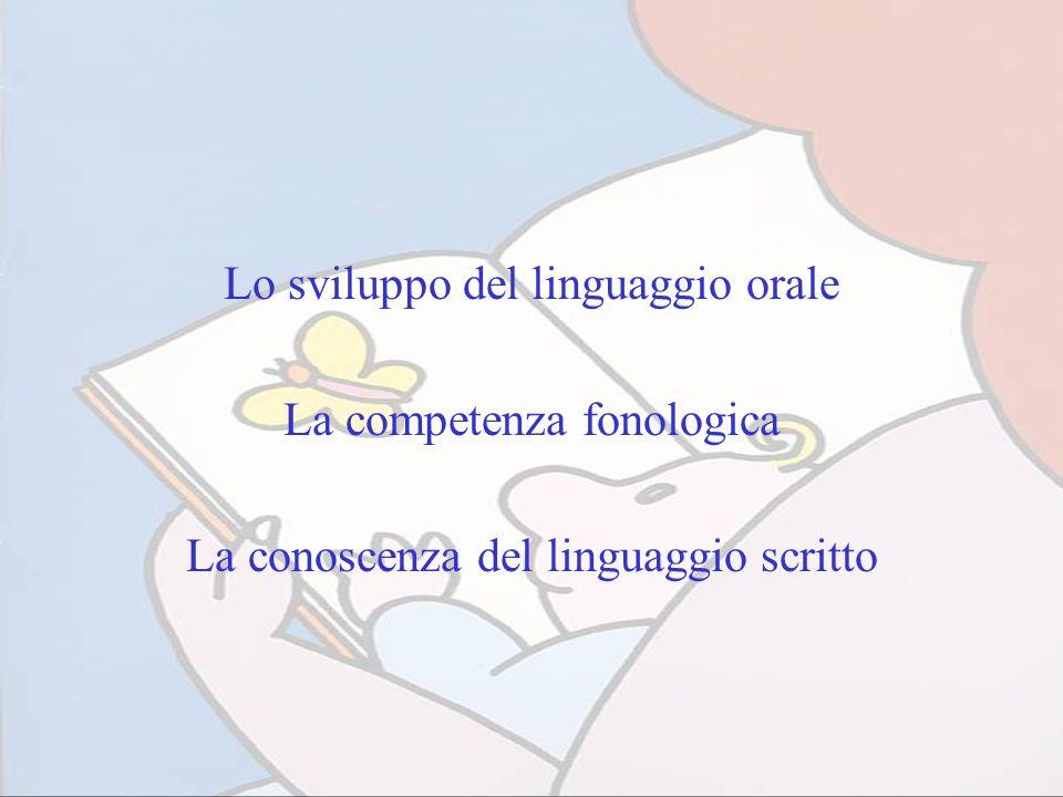 Lo sviluppo del linguaggio orale La competenza fonologica