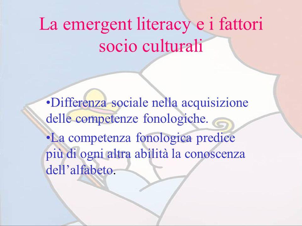 La emergent literacy e i fattori socio culturali