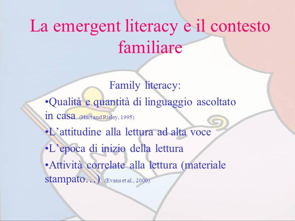 La emergent literacy e il contesto familiare