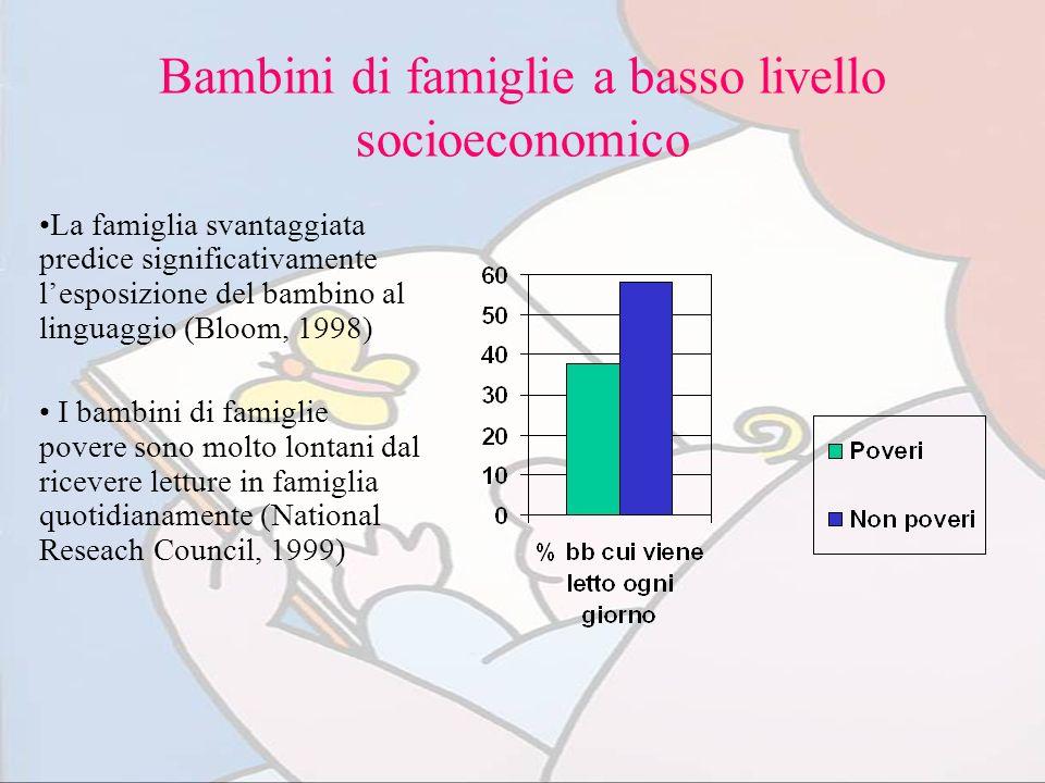 Bambini di famiglie a basso livello socioeconomico