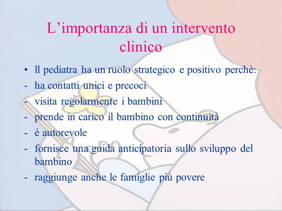 L'importanza di un intervento clinico