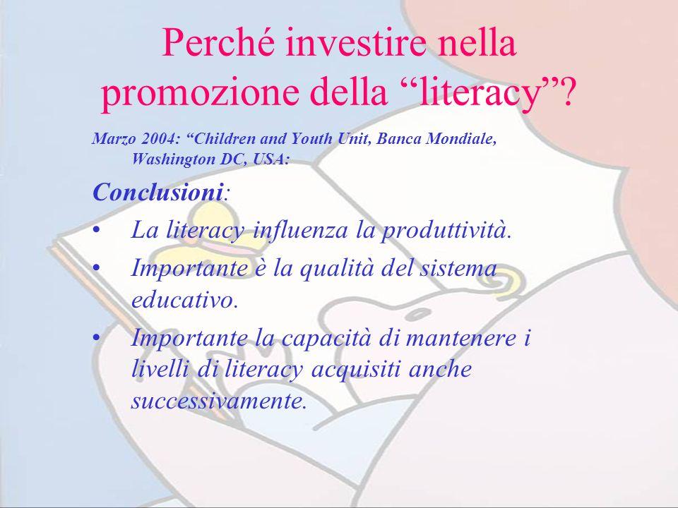 Perché investire nella promozione della literacy
