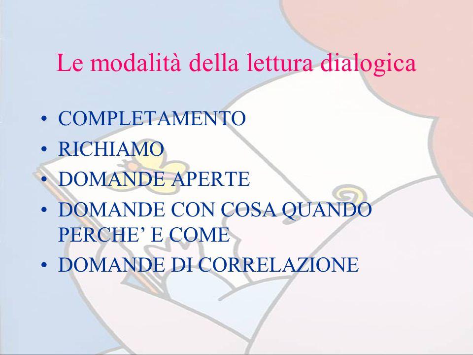 Le modalità della lettura dialogica