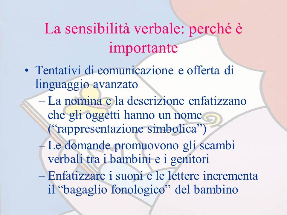 La sensibilità verbale: perché è importante