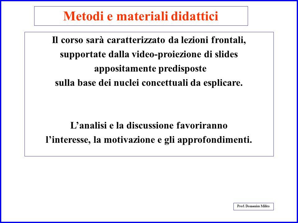 Metodi e materiali didattici