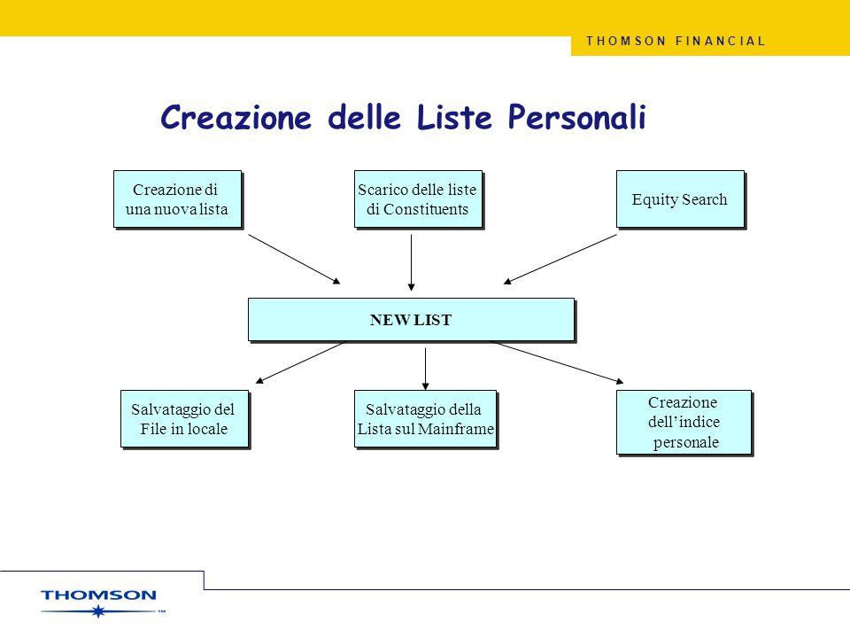 Creazione delle Liste Personali